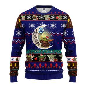 Star Wars Baby Yoda Cute Ugly Christmas Sweater Blue