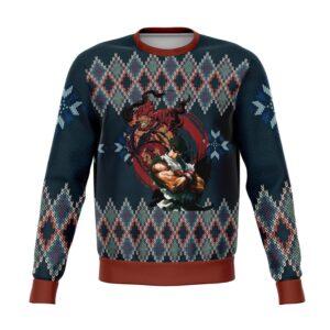 Street Fighter Ryu And Akuma Ugly Christmas Sweater