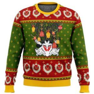 Studio Ghibli Princess Mononoke Xmas Forest Spirit Ugly Christmas Sweater