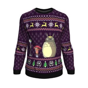 Studio Ghibli Totoro Rain Miyazaki Ugly Christmas Sweater