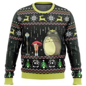 Studio Ghibli Totoro Rain Ugly Christmas Sweater