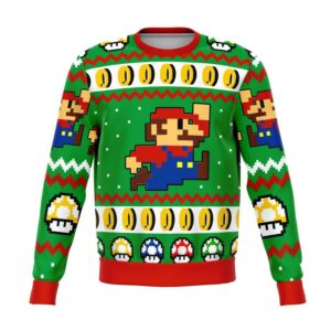 Super Mario Jump Ugly Christmas Sweater