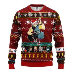 Tengen Uzui Demon Slayer Anime Ugly Christmas Sweater Red