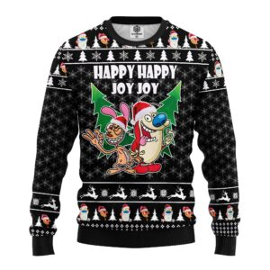 The Ren & Stimpy Show Ugly Christmas Sweater