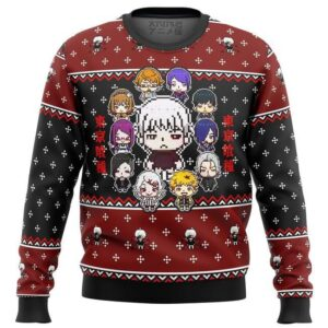 Tokyo Ghoul Sprites Ugly Christmas Sweater