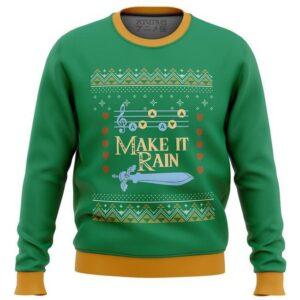 Zelda Make It Rain Ugly Christmas Sweater