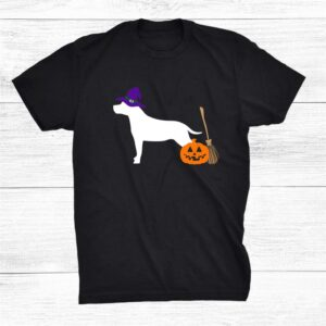 American Staffordshire Terrier Halloween Dog Pit Bull Witch Shirt