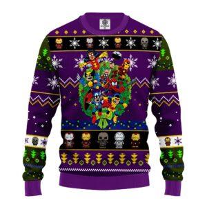 Avengers Ugly Christmas Sweater Purple