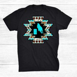 Aztec Horse Barrel Racing Cowgirl Shirt