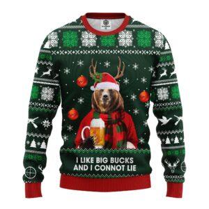 Beer Bear Ugly Christmas Sweater