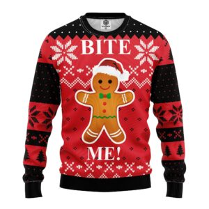 Bite Me Cookie Ugly Christmas Sweater