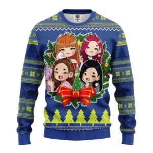 Blackpink New Chibi Ugly Christmas Sweater