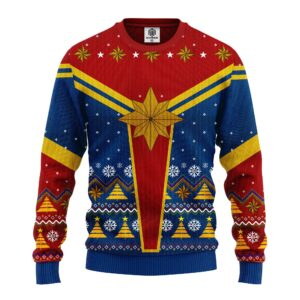 Captain Marvel Ugly Christmas Sweater