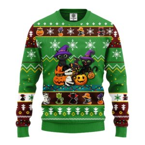 Cat Cute Witcher Noel Mc Ugly Christmas Green