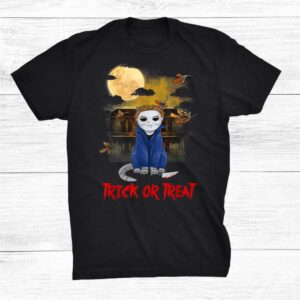 Cat Horror Movie Trick Or Treat Hallloween Costume Shirt