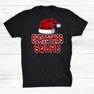 Christmas Squad Santa Red Plaid Claus Xmas Pajama For Family Shirt