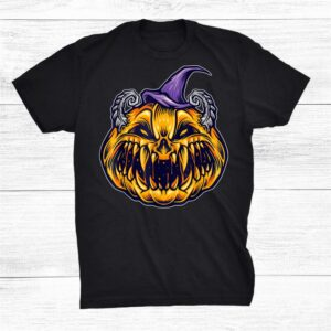 Creepy Pumpkin Halloween Monster A Funny Halloween Costume Shirt