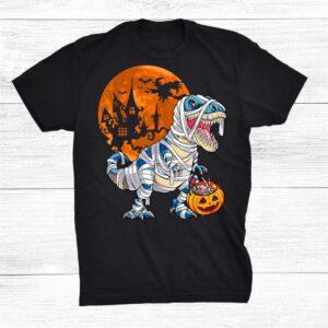 Dinosaur T Rex Mummy Pumpkin Halloween Costume Shirt