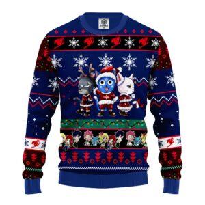 Fairy Tail Anime Christmas Sweater Blue
