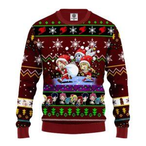 Fairy Tail Anime Christmas Sweater Brown