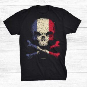 France Flag Skull Crossbones Shirt