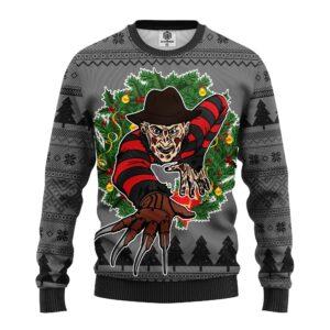 Freddy Krueger Halloween Ugly Christmas Sweater