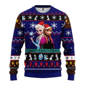 Frozen Ugly Christmas Sweater Blue