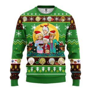 Golden Girls Ugly Christmas Sweater Green