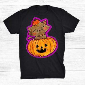 Halloween Carved Pumpkin Cat Shirt