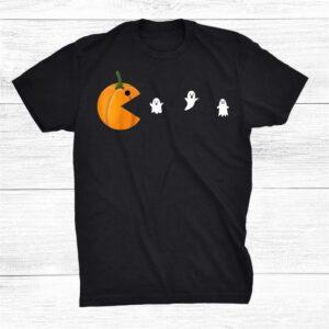 Halloween Pumpkin Face Patch Shirt
