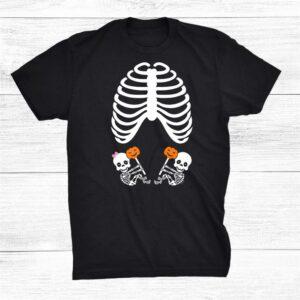 Halloween X Ray Pregnancy Shirt Expecting Twins Shirt