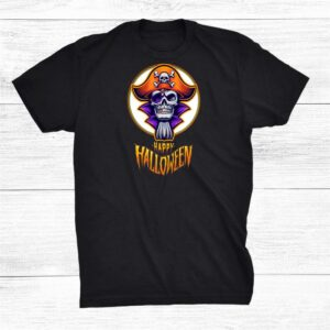 Happy Halloween Scary Pirate Skull And Crossbones Pirate Hat Shirt