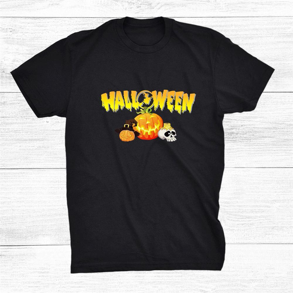Happy Halloween Trick Or Treat Pumpkin Witch Costume Shirt