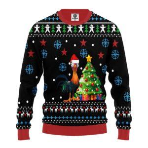 Hei Hei Chicken Ugly Christmas Sweater
