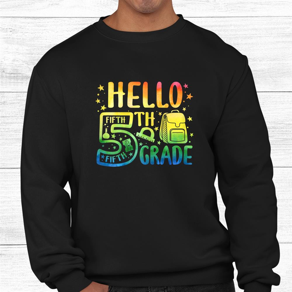 Hello Fifth Grade Shirt