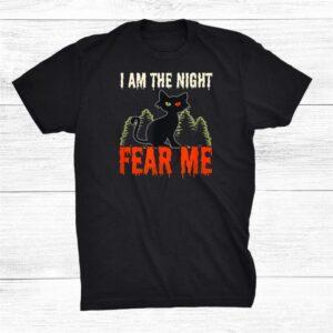 I Am The Night Design Halloween Cat Shirt