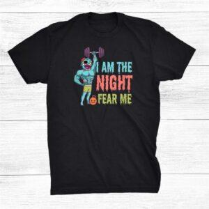 I Am The Night Halloween Weight Lifter Shirt