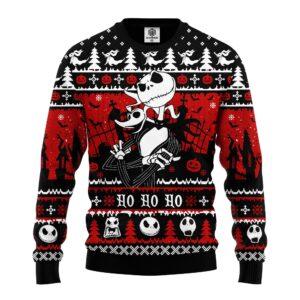 Jack And Zero Nightmare Before Xmas Ugly Christmas Sweater