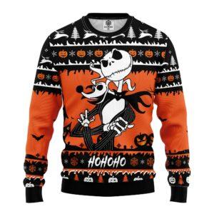 Jack And Zero Nightmare Ugly Christmas Sweater