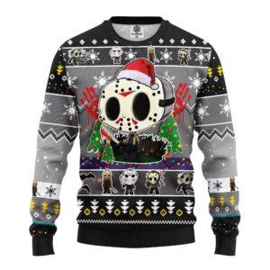 Jason Voorhees Chibi Ugly Christmas Sweater
