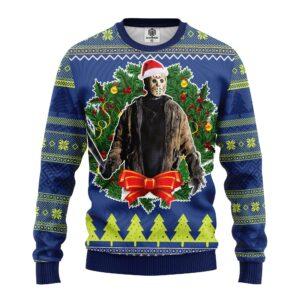 Jason Woorhees Ugly Christmas Sweater