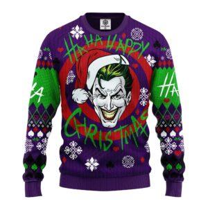 Joker Green Ugly Christmas Sweater