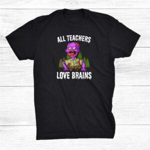 Love Brains Halloween Teacher Shirt