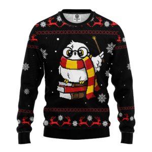 Magic Owl Ugly Christmas Sweater