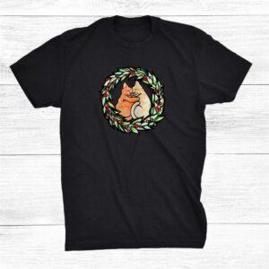 Merry Christmas Holiday Kitty Cat Shirt