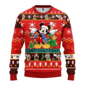 Mickey Ugly Christmas Sweater Red