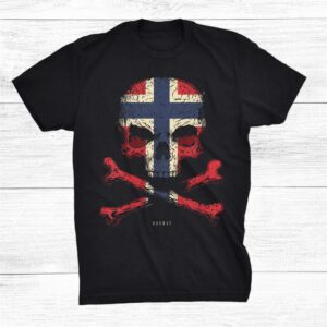 Norway Flag Skull Crossbones Shirt