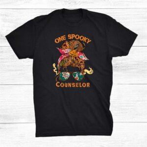 One Spooky Counselor Bandana Halloween Shirt
