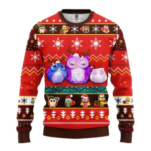 Own Night Cute Green Ugly Christmas Sweater Red Brown