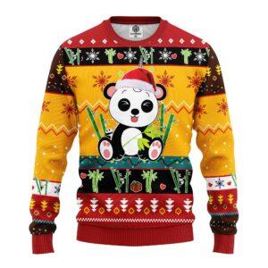 Panda Ugly Christmas Sweater Yellow